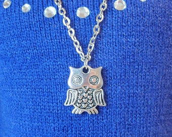 Silver Owl Necklace for American Girl and other 18 inch dolls