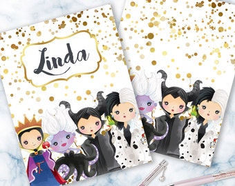 Disney Villains Planner Cover for use of Erin Condren ECLP or Happy Planner