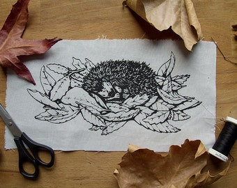 Hedgehog In The Leaves patch