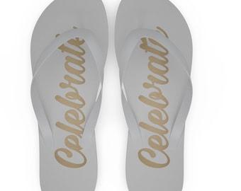 bda3f7e72707 Wedding flip flops