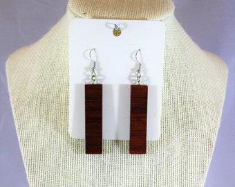 Modern African Padauk earrings