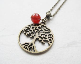 Tree of life necklace, tree necklace, yoga necklace