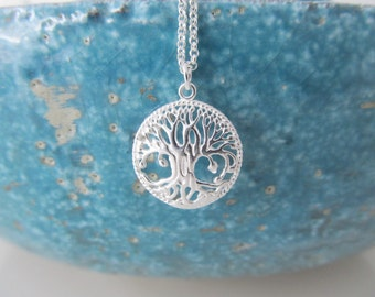 Sterling silver tree necklace, tree of life necklace, tree necklace