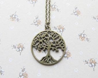Tree of life necklace, tree necklace, tree jewelry, bronze necklace, yoga necklace