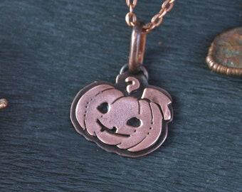 Pumpkin Smile Pendant - Jack O'Lantern Necklace - Jack the Lamplighter - Halloween Pendant - Lovely Jack