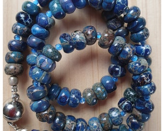 Blue picture jasper roundel