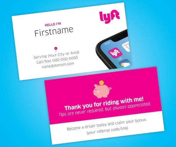 Lyft Business Cards >> Lyft Business Cards Free Shipping