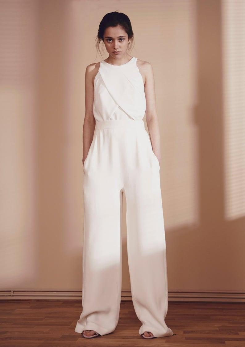489d3f598b Palazzo Pants White Summer Pants Women Suit Pants Wide Leg | Etsy