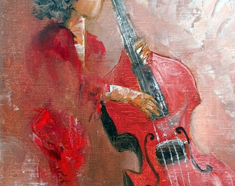 Red double bass