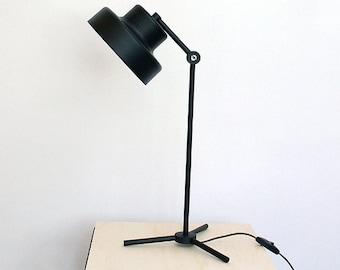 Tripod Desk Lamp, Black Table Lamp, Metal Desk Lamp, Industrial Black Table Lamp, Reading Lamp, Office Lamp