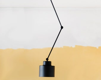 Ceiling Movable Light, Lamp with Flexible Arms, Midcentury Industrial Light , Pendant Metal Lamp,  Living Room Lamp,Bedroom Lamp