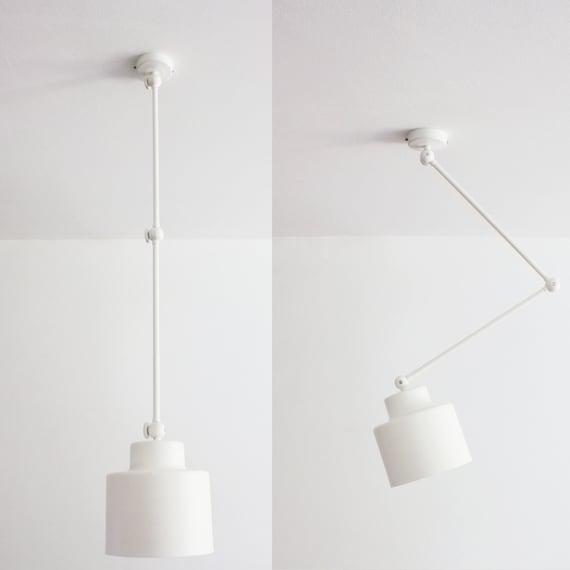 Weiss Deckenlampe Mit Beweglichen Armen Anhanger Etsy