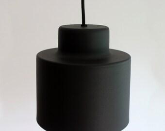 Black Pendant Lamp, Aluminium Handmade Ceiling Lamp, Industrial Pendant Lamp,  Minimal Black Metal Ceiling Lamp, Metal Lampshade