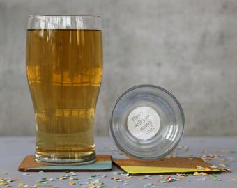 Personalised 'Will you marry me?' Pint Glass