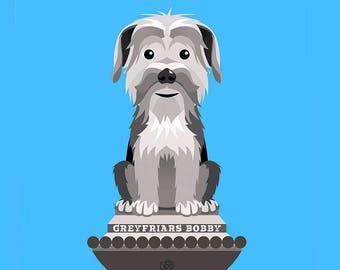 Greyfriars Bobby, Dog Print, Edinburgh, Scottish Gift, Scotland's Best Friend