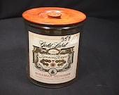 Vintage Gold Label Glass Jar Cigar Miramar Humidor Empty in Great Original Condition