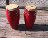 A Pair of Fiberglass Shell Conga Congo Drums Ready to Use PICK UP ONLY