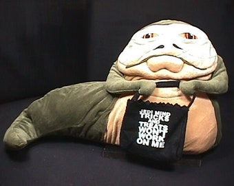 2981f796f33 A Vintage Star Wars Jabba The Hutt Plush Toy Very Rare   Real Nice