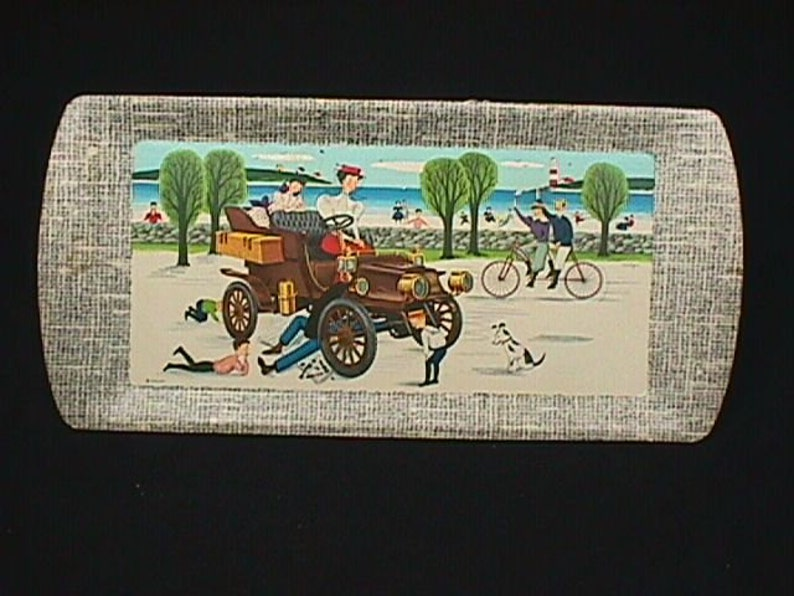 Four Vintage Automobile Related Buffet Trays Still in New Condition in there Original Box