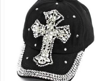 ae31e0601b4 Rhinestone cross hat