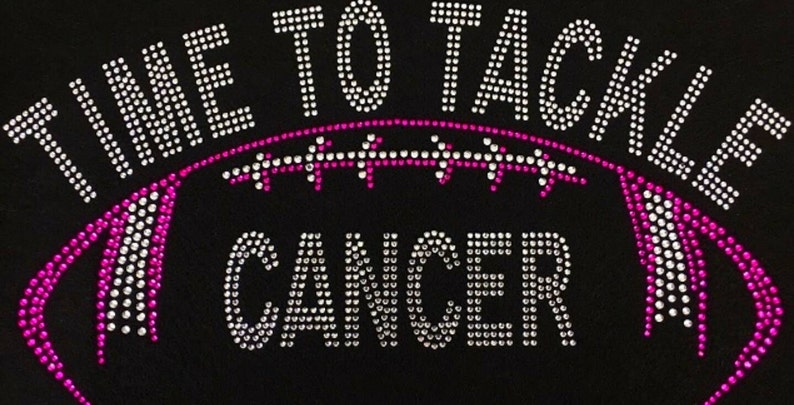 more photos 02561 91512 Breast, Cancer, Football, Tackle, Pink, Hope, Bling, Diva, Rhinestone