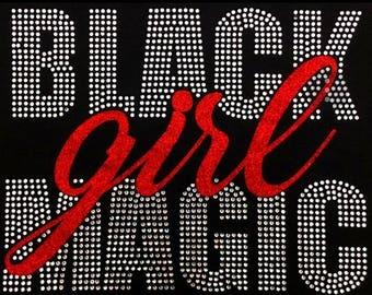 "Culture, African, Bling, Diva, Rhinestone ""Black Girl Magic"" T-Shirt"