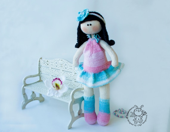 Flower Doll Doll Pattern Amigurumi Doll Instant Download Etsy