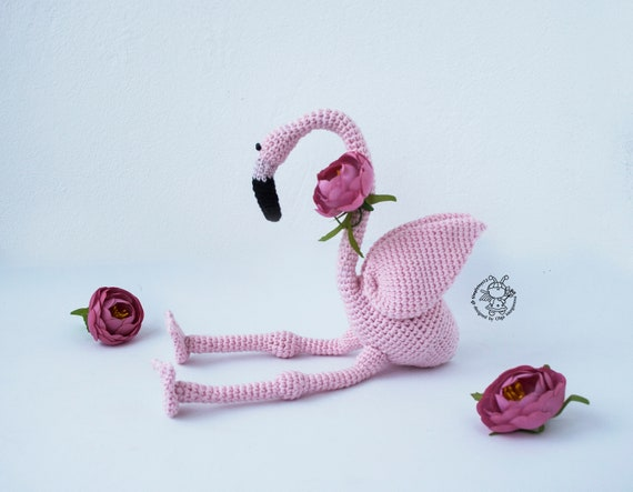 Pink Flamingo Crochet Pink Flamingo Toy Crochet Pattern Etsy