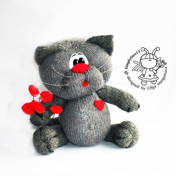 Enamored Cat Amigurumi Cat Knitting Pattern Knitted Round Diy Etsy