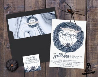 printable halloween invitation something wicked this way etsy