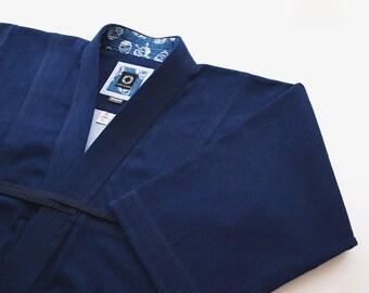 Denim Skull Kendogi / Raw Denim / Kendo Iaido Aikido / Keikogi / Kendo jacket / Martial Arts Gi / Made to Order / Budo Collection