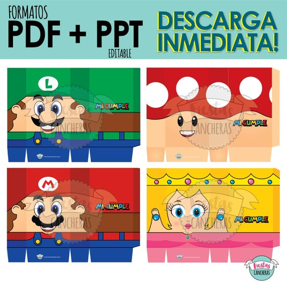 Printable Bags Golosineras Mario Bros 4 Characters Included Etsy