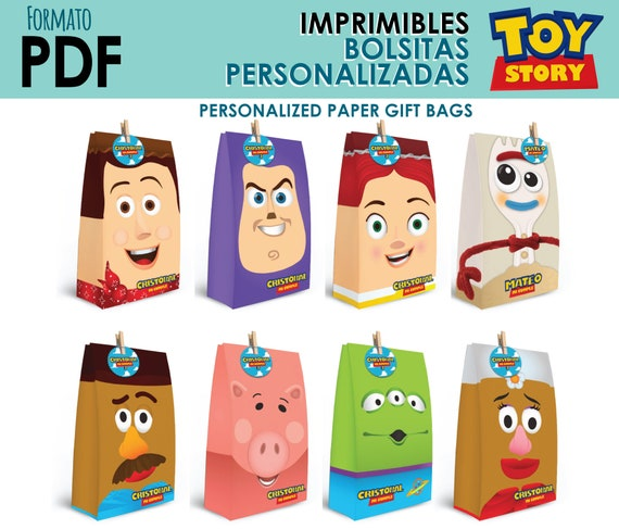 Printable full KIT paper bags for Toy Story
