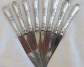 Set of 8 Sterling Silver Handled Knives