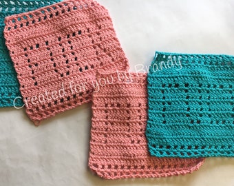 Dirty Crocheted Dishcloth (set of 2)