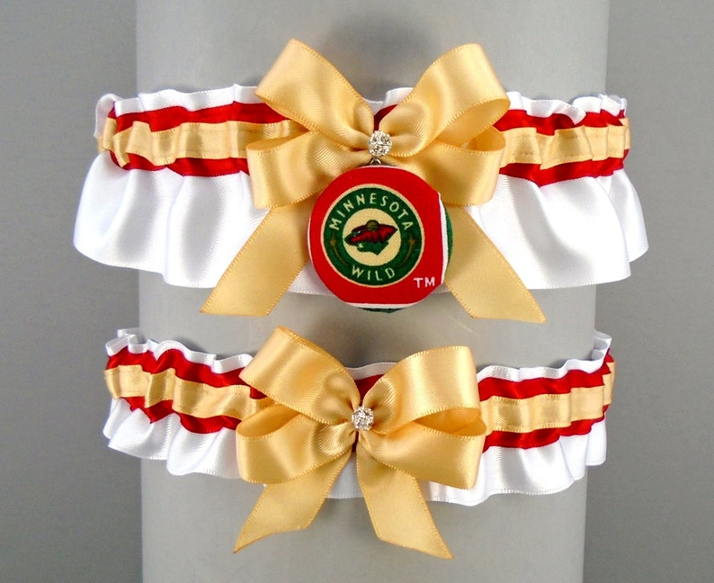 May also be purchased individually with Wild\u2122 Fabric Covered Button Embellishment #H36 Handmade Light Toffee /& Red Wedding Garter Set