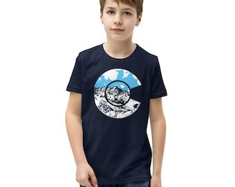 Colorado Flag Youth Short Sleeve T-Shirt