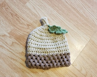 6c86ddc64b4 Crochet Acorn Hat -- Made to Order in ANY size!