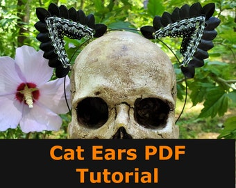 Scale Cat Ears Tutorial - PDF Instant Download - Chainmaille Tutorial - Scalemaille Headband