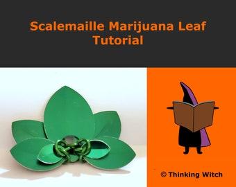 Scalemaille Marijuana Leaf Tutorial - Scale Pot Leaf - Flower Hair Accessory Tutorial