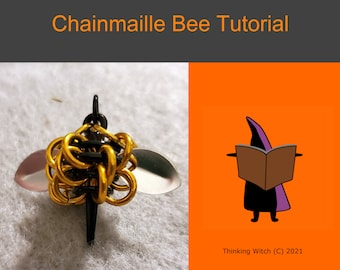 Chainmaille Tutorial - Bee Earrings, Chainmaille Bee Pendant Tutorial