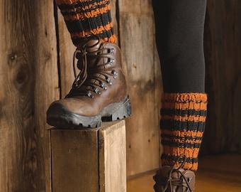 Leg warmers, leg warmers stripes, gaiters, stripped gaiters, stripped leg warmers, womens leg warmers, womens gaiters, knitted leg warmers