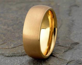 9f835455faf Yellow Gold Plated Tungsten Ring