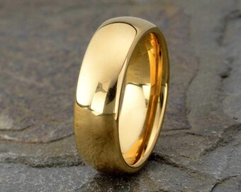 Yellow Tungsten Ring Etsy