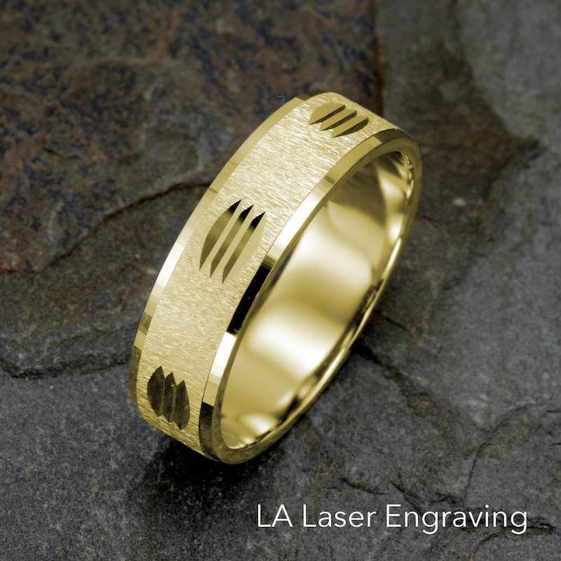 1a5f9a7dbfcf Venda de boda para hombre anillo de oro amarillo oro de 14K
