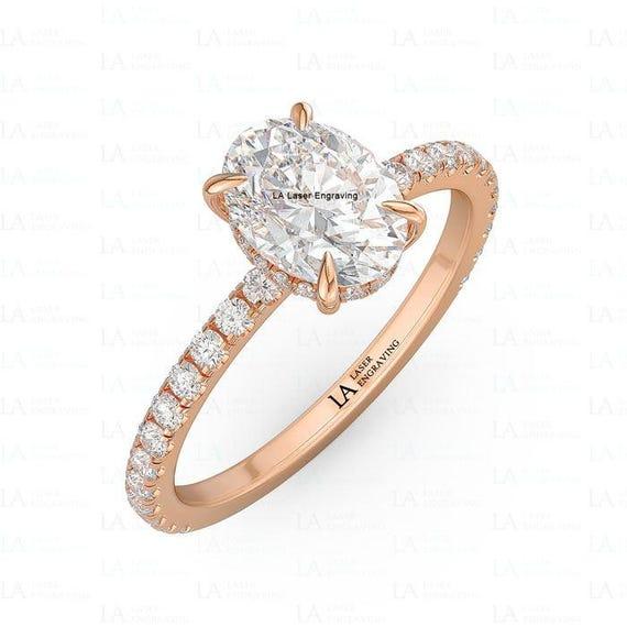 Rose Gold Verlobungsring Diamant Ring Moissanite Ring Oval Etsy