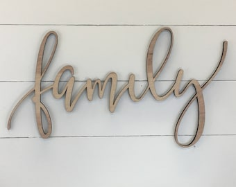 Family Wooden Wall Word Sign Wooden Word Wooden Words Wooden Wood Art Wood Word Wooden Letters Wall Decor Custom Wood Sign Letter  sc 1 st  Etsy & Custom family art | Etsy