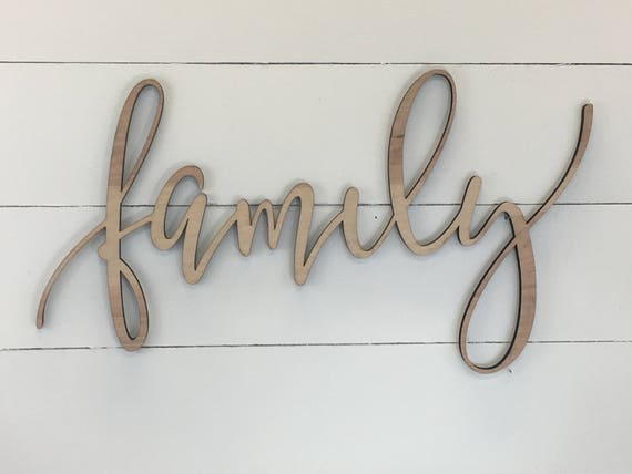 Family Wooden Wall Word Sign Wooden Word Wooden Words | Etsy