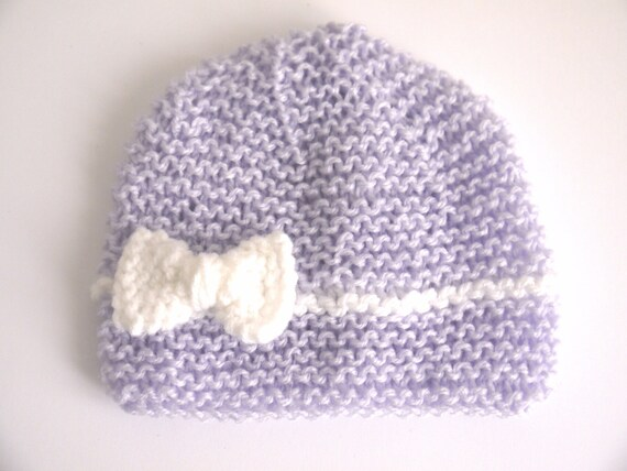 Hat wool baby girl purple lilac light purple bow newborn gift   Etsy 94ef6ae5233