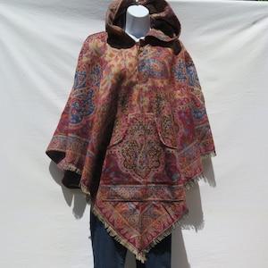 Kimono|Jacket|2 Pocket|Boho|Bohemian|Tribal|Design|60 Style|Hippie|Handmade|Himalayan|Hand Loomed|Yak Wool Blended ShawlSize 4660 XS to S